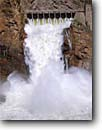 Stock photo. Caption: Theodore Roosevelt Dam Salt River Apache Trail Sonoran Desert,  Arizona -- flood floods crashing dams rivers spillway spillways southwest southwestern power powerful rushing water blockage hydro hydroelectric production energy electricity dams