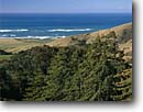 Stock photo. Caption: Coast redwoods and Point Sur   from Coast Road Big Sur Coast Monterey County, California -- seascape seascapes  headland headlands united states america wave waves surf scene scenic scenics landscape landscapes ocean meets trees meet grove redwood coastal winter