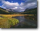 Stock photo. Caption: McClure Meadow and Evolution Creek John Muir Wilderness Kings Canyon National Park Sierra Nevada, California -- Keywords: united states america landscape landscapes solitude highcountry mountains wildernesses sierras backcountry isolation isolated peace peaceful parks creeks winding meadows summer pacific crest john muir trail