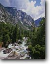 Stock photo. Caption: South Fork Kings River Cedar Grove Kings Canyon National Park Sierra Nevada, California -- united states america backpack hike landscape landscapes mountains wildernesses sierras backcountry isolation isolated parks secluded rivers torrent water flowing spring