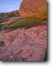 Stock photo. Caption: Sandstone at sunset Rocky Peak Park Simi Valley Ventura County,  California -- Keywords: united states america southern south rock rocky designs clear blue sky skies geology geologic parks southern rocks