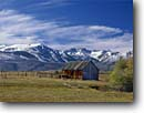 Stock photo. Caption: Sawtooth Ridge  from Bridgeport Valley Mono County Sierra Nevada, California -- united states america mountain mountains building buildings americana barns barn sierras wooden agriculture ranch ranching ranches eastern valleys