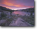 Stock photo. Caption: Bonnie Lake Pacific Crest Scenic Trail Toiyabe National Forest Sierra Nevada,  California -- Keywords: united states america summer highcountry backcountry sierras landscape landscapes meadows remote alpine lakes trails sunset sunsets rocks rock reflection reflections