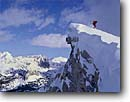 Stock photo. Caption: Backcountry skiing, Mammoth Crest John Muir Wilderness Inyo National Forest Sierra Nevada, California -- Keywords: united states america high mountain high country sierras people highcountry skier winter snow covered snowy outdoor recreation extreme sport sports blue skies sunny adventure excitement exciting alpine cornice danger dangerous wildernesses sport sports