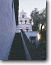 Stock photo. Caption: Mission San Diego de Alcala 1st in chain of California missions San Diego San Diego County,  California -- united states america historic history americana religion religious cross crosses purity pure spiritual missionary period spanish catholic christian christianity holy church churches places adobe worship stairway stairs climbing climb bell bells tower