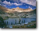 Stock photo. Caption: Spring Lake Great Western Divide Sequoia National Park Sierra Nevada, California -- Keywords: united states america backpack hike landscape landscapes solitude highcountry lake lakes mountains wildernesses sierras backcountry isolation isolated peace peaceful harmony parks adventure secluded