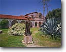 Stock photo. Caption: Mission San Antonio de Padua 3rd mission founded in California chain Jolon Monterey County,  California -- united states america historic history americana religion religious cross crosses purity pure spiritual missionary period spanish catholic christian christianity holy church churches places adobe missions garden gardens statue statues
