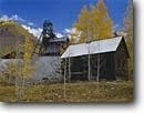 Stock photo. Caption: Abandoned ore mill   near Rico San Juan Mountains Rocky Mountains,  Colorado -- united states america historic historical mine mines gold rushes rush mountain building buildings americana protection  aspen aspens mineral ore extraction past old west mining mills