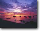 Stock photo. Caption: Sunset Kailua Bay Kailua Kona Island of Hawaii, Hawaii -- united states america tropical hawaiian sailboats boats person people warm travel family  sail boats destinations destination