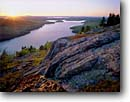 Stock photo. Caption: Long Pond and Western Bay   from Beech Mountain Acadia National Park Mount Desert Island, Maine -- bays mountains parks polished granite glacial polish islands sunset sunsets fall autumn new england united states america northeast northeastern landscape landscapes lake lakes ponds carved glacially geology