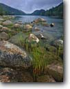 Stock photo. Caption: Jordan Pond and The Bubbles Acadia National Park Mount Desert Island Maine, New England -- Keywords: united states america parks lake lakes summer shore shoreline shorelines granite boulders rocky landscape landscapes northern northeastern islands