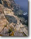 Stock photo. Caption: Granite cliffs along Ocean Drive Acadia National Park Mount Desert Island Maine,  New England -- Keywords: united states america parks headlands shoreline shorlines atlantic cliff seascape seascapes northern northeastern islands atlantic eastern seaboard