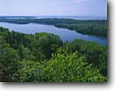 Stock photo. Caption: View from Lookout Louise Lake Superior Isle Royale National Park Michigan -- tree trees pine clouds united states america forest forests landscapes landscape midwest midwestern upper north woods great lakes parks grand vista vistas summer sunny clear