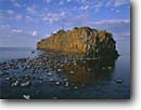 Stock photo. Caption: Lichen covered rocks Northeast end of Isle Royale Isle Royale National Park Lake Superior,  Michigan -- united states america midwest midwestern upper  great lakes parks kayaking canoeing summer areas area sunny rocky rock