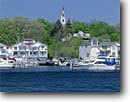 Stock photo. Caption: White Lake and Montague   from Whitehall Muskegon County Lower Peninsula,  Michigan -- united states america quaint village villages harbors harbours harbour nostalgic maritime boats boat boating town midwest midwestern mooring small town towns great lakes waterfront waterfronts