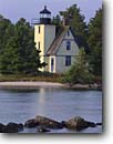 Stock photo. Caption: Bette Grise Light, Lac La Belle Bette Grise Bay, Lake Superior Keweenau Peninsula Keweenau County,  Michigan -- united states america lighthouse light historic lighthouses great lakes protection beacon beacons direction guidance pharos navigation  navigational aid aids midewest midwestern upper quaint idyllic picturesque