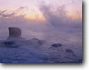 Stock photo. Caption: Lake Superior Leif Erickson Park Duluth St. Louis County,  Minnesota -- Keywords: parks great lakes united states america cloudy foggy fog landscape landscapes dramatic lakeshore winter cold lakeshores