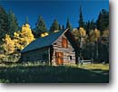 Stock photo. Caption: Aspen and spruce Historic Saint Mary Ranger Station Glacier National Park Rocky Mountains,  Montana -- Guard Station cabin cabins stations ranger historic historical fall autumn forests rangers residence  united states parks america world heritage site sites building buildings log logs