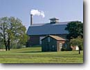 Stock photo. Caption: Barn at Babcock House Museum  Somerset, New York -- united states america tree museums smoke stack stacks barns energy pollution rural building buildings
