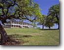 Stock photo. Caption: Oaks and South Barracks (1849) Fort Washita Historic Site   near Durant Bryan County,  Oklahoma -- historical scenic destination destinations attractions spring tourist attraction southern scenics parks south heritage civil cannons cannon american artillery union confederate history west western sites indian wars forts safety safe cannonball parks