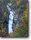 Stock photo. Caption: Lower Whitewater Falls, Foothills Trail Duke Power Observation Point Jocassee Gorges Wilderness Oconee County, South Carolina -- united appalachian mountains south southeast southeastern states america appalachia forests wildernesses autumn fall color colour colours colors waterfall waterfalls cascades cascade  appalachian wildernesses tourist travel attraction attractions hiking