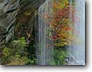 Stock photo. Caption: Slicking Falls   above Table Rock Reservoir Greenville Watershed District Greenville County, South Carolina -- county united waterfall waterfalls appalachian mountains south southeast southeastern states america ribbon fall color colour colours colors autumn