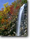 Stock photo. Caption: Rainbow Falls above Jones Gap State Park Blue Ridge Escarpment South Carolina -- greenville county united waterfall waterfalls fall autumn southern hardwood forest color colors colour colours creek creeks cliff south southeast southeastern states america appalachian appalachians appalachia