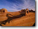 Stock photo. Caption: Delicate Arch  and shadow Arches National Park Colorado Plateau,  Utah -- united states america desert deserts rock canyons country plateaus spiritual landscape landscapes tourist travel destination destinations arches buttes canyon strength ethereal family vacation slickrock parks scenic scenics landmarks landmark attractions