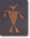 Stock photo. Caption: Duck-Headed Man Cedar Mesa Glen Canyon National Recreation Area Colorado Plateau,  Utah -- petroglyph native american rock art parks united states america ancient civilization civilizations indian indians communication historic historical mystical petroglyphs design designs spiritual anasazi culture glyph glyphs areas
