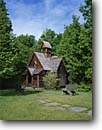 Stock photo. Caption: Boynton Chapel, Bjorklunden Estate near Bailey