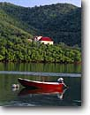 Stock photo. Caption: Emmaus Moravian Church Coral Bay Saint John United States  Virgin Islands -- bays saint caribbean tropical tourist island destination destinations tourist sea boat boats vessel vessels pleasure craft protectorate travel  vacation sunny warm red churches