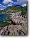 Stock photo. Caption: Southeast tip of Pic Island   in Lake Superior Ten miles west of Marathon Ontario,  Canada -- Keywords: headland headlands clear water pure canadian summer great lakes tranquil solitude landscape landscapes clarity shoreline lakeshore lakeshores rocky rock islands rugged shorelines
