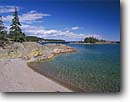 Stock photo. Caption: Cove Island  from Patterson Island Slate Islands Provincial Park Ontario, Canada -- Keywords: beach beaches clear water pure canadian parks summer great lakes tranquil solitude landscape landscapes scenic scene secluded sandy sand lakeshores islands rugged shorelines clear water blue sky skies clean sunny