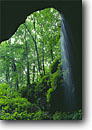 Stock photo. Caption: Waterfall and cave opening Historic Entrance Mammoth Cave National Park Kentucky -- Keywords: destination destinations united states america world heritage site sites caves formation cavern caverns travel family tourist waterfalls south southern southeast southeastern forest forests spring parks
