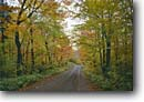 Stock photo. Caption: Country road between Grand Marais     and Temperance River North Shore of Lake Superior Minnesota -- roads midwest fall autumn leaves falling yellow tree trees forest rural united states america quaint romantic backroad backroads inviting route travel traveling foliage northern woods path paths less traveled