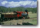 Stock photo. Caption: Atlantic and Western Railroad Hill City, Black Hills South Dakota -- railroads train trains locomotive locomotives steam recreation recreational tourist attraction historic historical engine engines united states america summer steam coal working dakotan american tracks track landscape landscapes