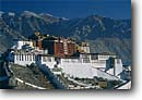 Stock photo. Caption: The Potala Palace, former home and seat   of government of the Dali Lama, Lhasa The Himalayas Tibet, China -- international travels travel history historical tourist destination destinations attraction attractions asia asian sunny temples palaces ornate buildings building architecture chinese ancient walled blue skies scenic scenics views view imposing