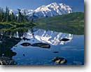 Stock photo. Caption: Mt. McKinley from Wonder Lake Denali National Park Alaska Range Alaska -- united states america tallest mount lakes peak peaks parks mountains summer taiga landscape landscapes tourist trdestination destinations alpine subalpine dramatic majestic reflection reflections calm placid adventure travel serene blue clean pristine dra