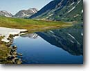 Stock photo. Caption: Lost Lake Chugach National Forest Kenai Peninsula Alaska -- mountains lakes united states america  solitude remote wilderness wildernesses landscape landscapes  destination destinations adventure reflection reflections backcountry isolation calm peaceful tranquil alpine summer balance
