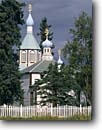 Stock photo. Caption: Russian Orthodox Church Kenai Alaska  -- churches crosses cross religion united states america worship place places christain christianity dome domes spire spires cupola cupola architecture religious alaskan building buildings summer inspiration inspirational spiritual
