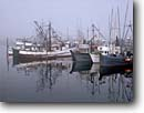 Stock photo. Caption: Sitka Harbor from Japonski Island Sitka, Baranof Island Southeast,  Alaska -- harbors fog foggy mist misty commercial commerce fishing boats ships harbour harbours united states america west pacific alaskan reflection reflections summer safe
