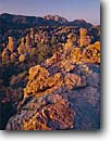 Stock photo. Caption: Cochise Head  from Heart of the Rocks Chiricahua National Monument Sonoran Desert,  Arizona --   welded tuft canyons monuments landscape landscapes united states america southwest southwestern rocky canyons canyon red rock spring hoodoos spire spires column columns