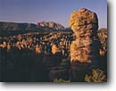Stock photo. Caption: Cochise Head   from Heart of the Rocks Chiracahua National Monument Chiracahua Mountains,  Arizona -- welded tuft canyons monuments landscape landscapes united states america southwest southwestern rocky canyons canyon red rock hoodoos spire spires desolate crowd spring