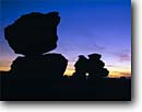 Stock photo. Caption: Balanced rocks at sunset Echo Park Chiricahua National Monument Chiricahua Mountains, Arizona -- sunsets balance welded tuft rock formations monuments united states america spring anthropamorphic dutch boy arch arches formation tuff southwest southwestern
