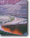 Stock photo. Caption: Confluence of Little Colorado River    and Colorado River,  Marble Canyon Grand Canyon National Park Colorado Plateau,  Arizona -- united states america desert deserts canyons country parks plateaus landscape landscapes tourist travel destination destinations rivers trip float raft trips spring reflected light rivers