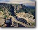 Stock photo. Caption: East Verde River Basin    from the Mogollon Rim Tonto National Forest Colorado Plateau,  Arizona -- forests plateaus canyons canyon country united states america landscape landscapes pine forests expansive scenic scenics distance vast expanse view vista vistas rims cliff cliffs summer spring