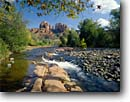 Stock photo. Caption: Oak Creek and Cathedral Rocks Red Rock Crossing Coconino National Forest Colorado Plateau, Arizona -- Keywords: united states america landscape landscapes clear scenic scenics scene canyons country parks landmark landmarks classic views view iconic spring water rivers creeks plateaus rock attraction attractions destination destinations