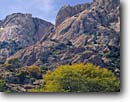 Stock photo. Caption: Dragoon Mountains   from Stronghold Canyon Coronado National Forest Arizona -- american country southwestern deserts southwest dramatic fall autumn united states america landscape landscapes  colors twisted uplifted mountain granite geology dome domes