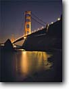 Stock photo. Caption: Golden Gate Bridge   from East Fort Baker  Golden Gate National Recreation Area Marin County,  California -- united states america seascape seascapes areas light west pacific ocean highway travel destination military reservation vacation bridges francisco dusk light strength symbol  reflections landscapes reflection evening clear night icon icons with