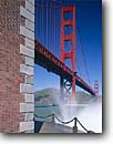 Stock photo. Caption: Golden Gate Bridge   from Fort Point Golden Gate National Recreation Area San Francisco, California -- city cityscapes cityscape areas urban  united states america travel tourist destination destinations landmark landmarks recreation bridges suspension skyline skylines icon icons attraction attractions highway highways symbols symbol